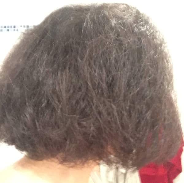 Cheveux crepus avant usage du lisseur GHD Gold classic