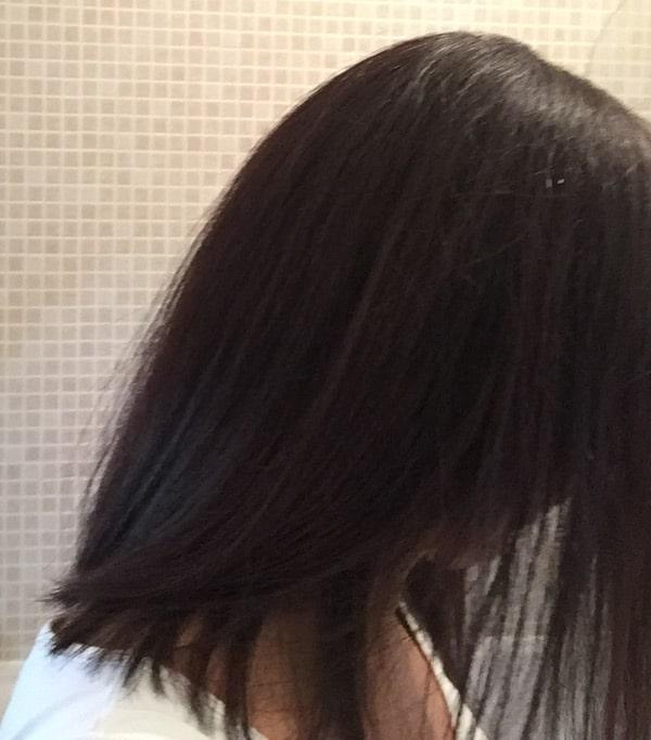 Cheveux lisses de la beauté Aurélie grace au lisseur steampod 2